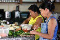 cooks at the Jardin Escondido