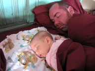 siesta with daddy