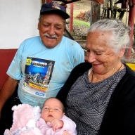 First photo with the Ecuadorian Grandparents