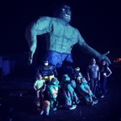 Big Hulk before being burnt